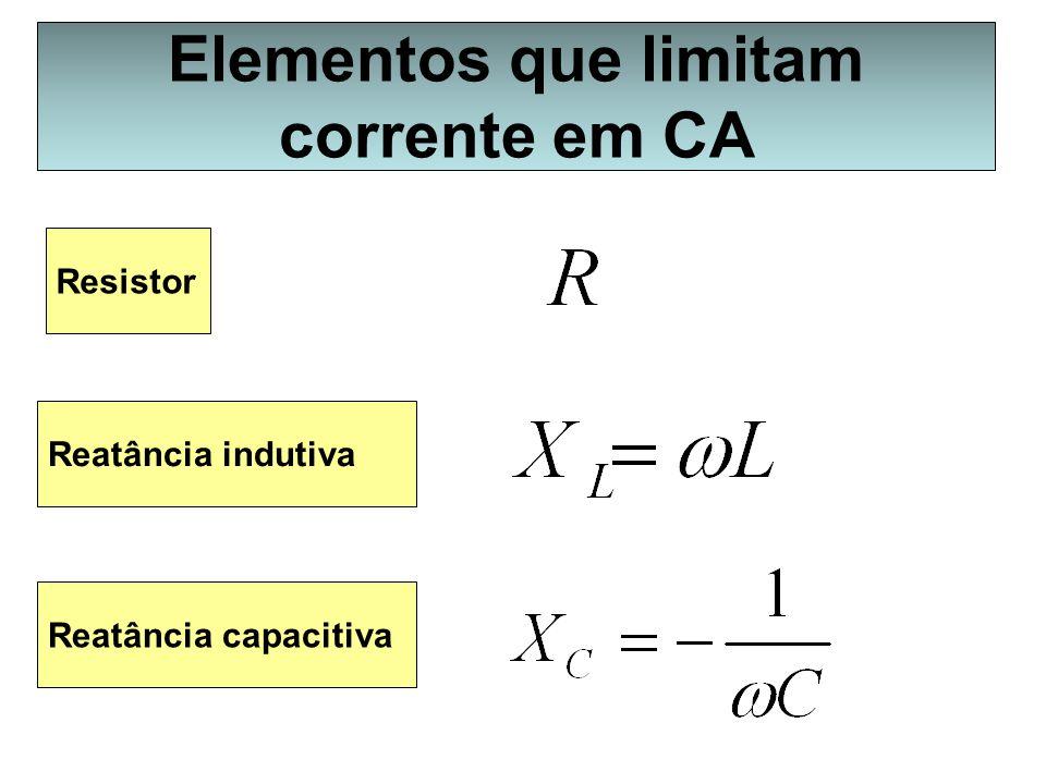 Elementos que limitam corrente em CA