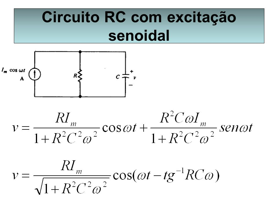 Circuito RC com excitação senoidal