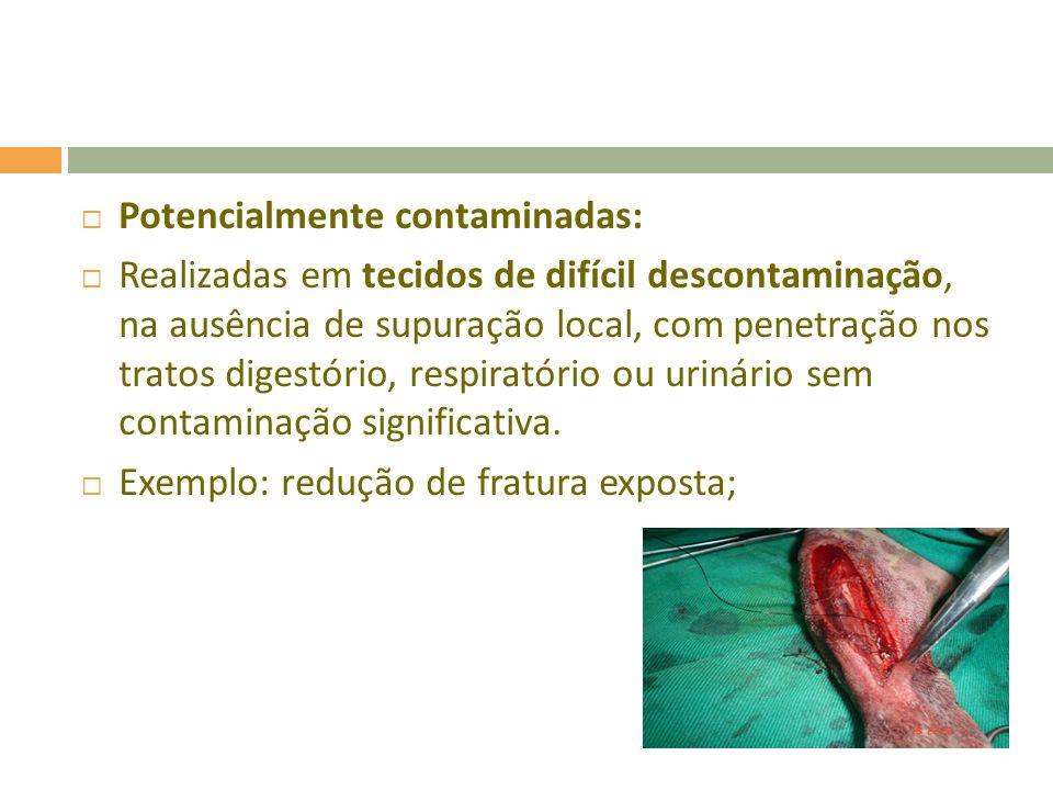Potencialmente contaminadas: