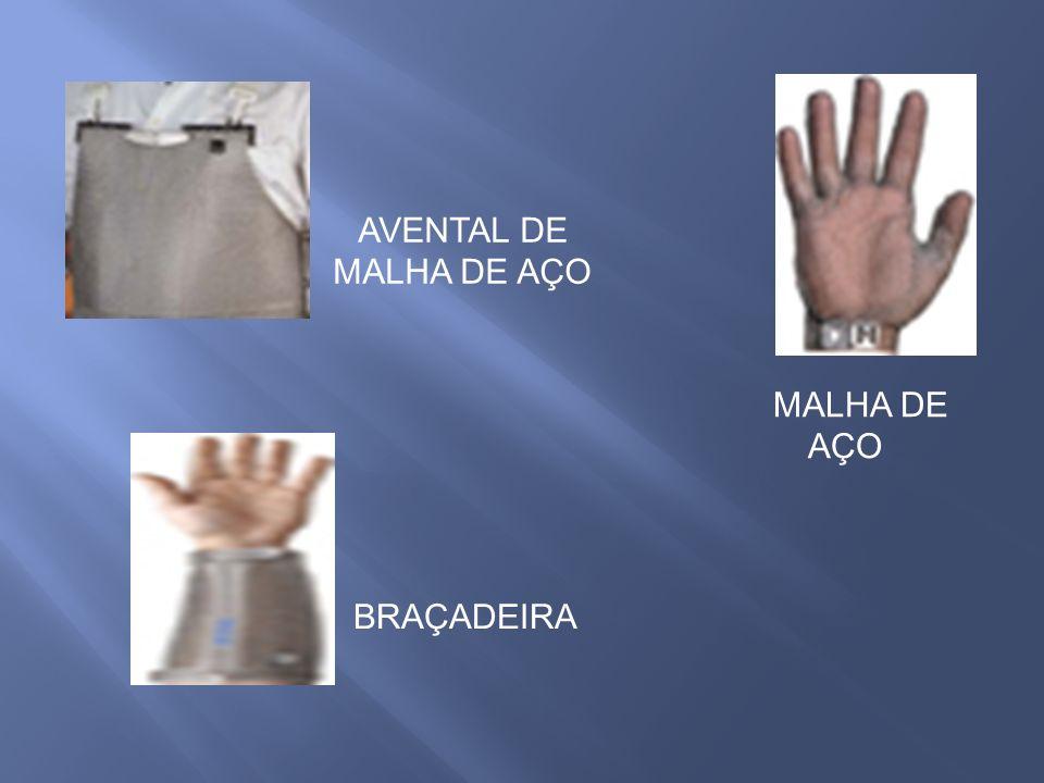 AVENTAL DE MALHA DE AÇO MALHA DE AÇO BRAÇADEIRA