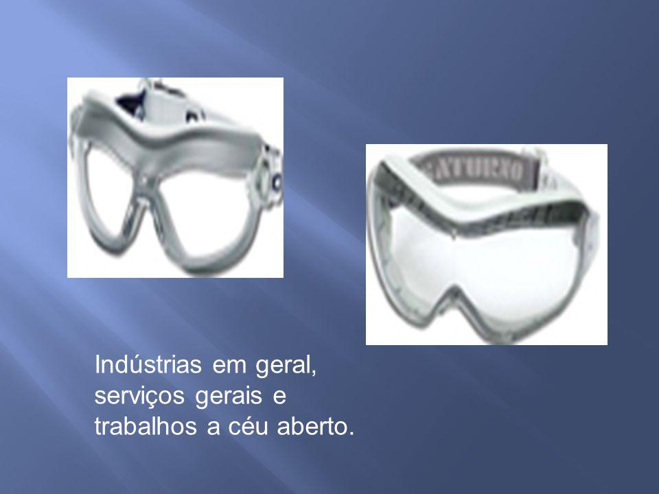 Indústrias em geral, serviços gerais e trabalhos a céu aberto.