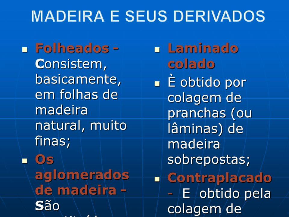 MADEIRA E SEUS DERIVADOS
