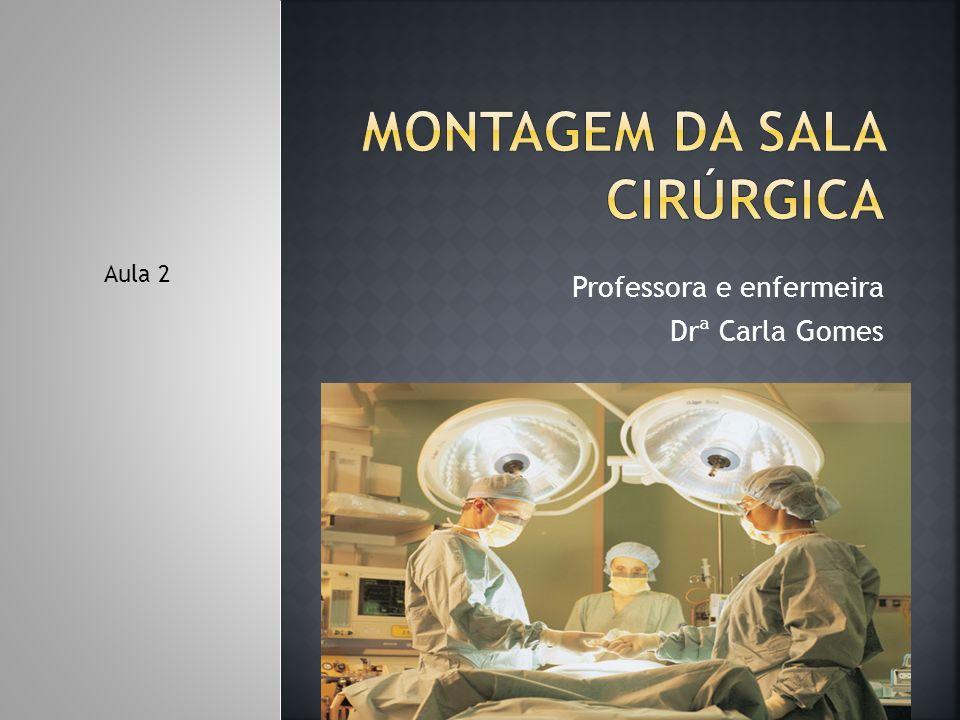 Montagem da sala cirúrgica