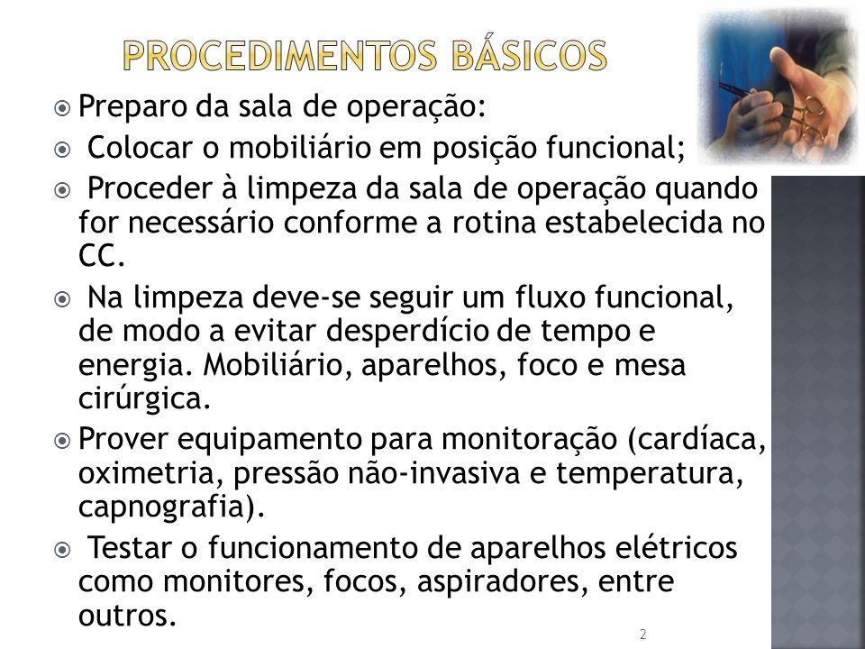 Procedimentos básicos