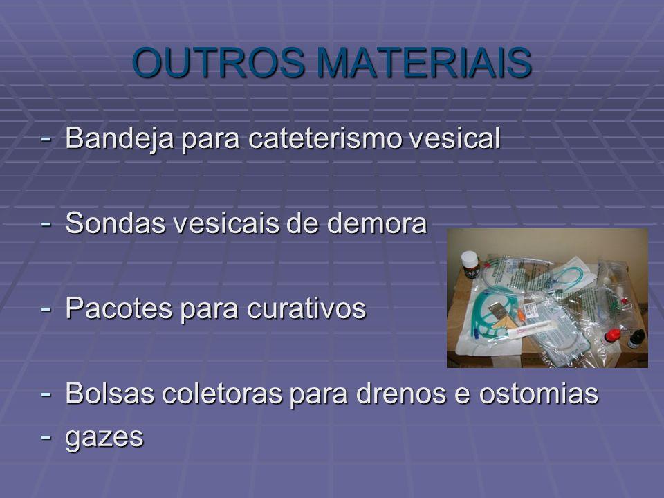 OUTROS MATERIAIS Bandeja para cateterismo vesical
