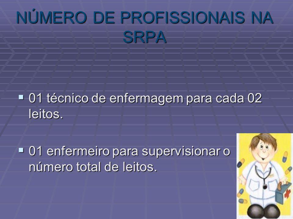 NÚMERO DE PROFISSIONAIS NA SRPA