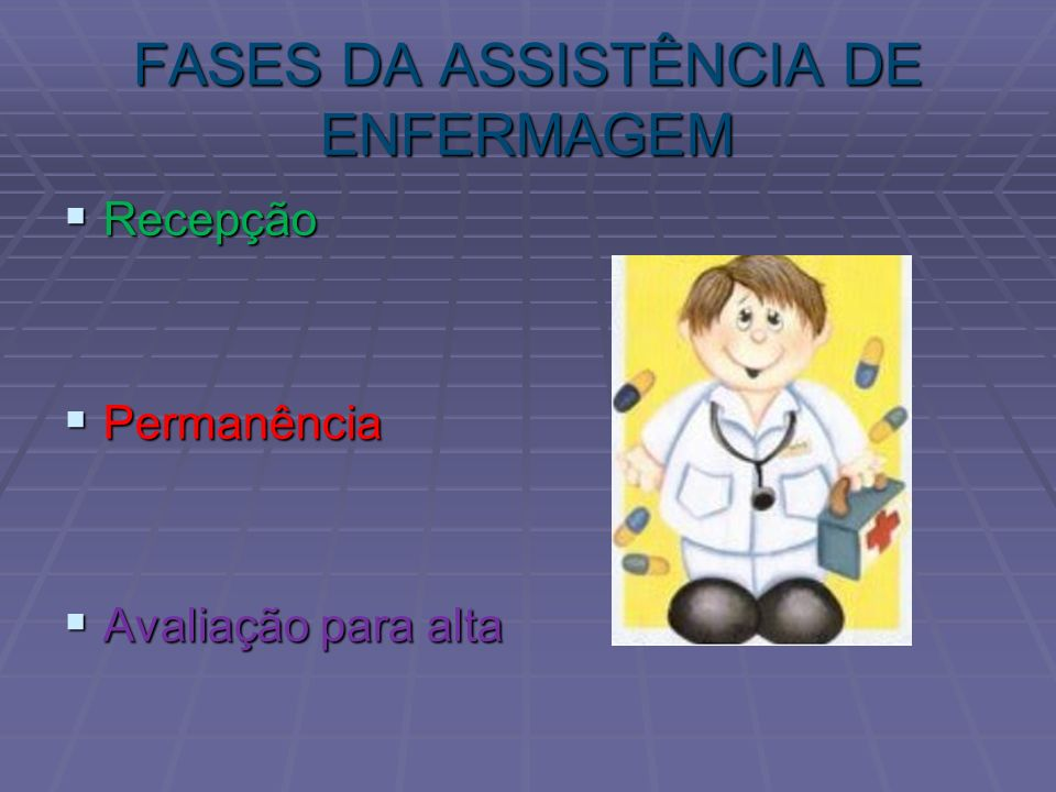 FASES DA ASSISTÊNCIA DE ENFERMAGEM