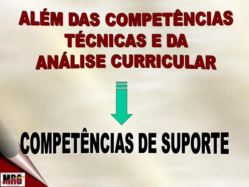 COMPETÊNCIAS DE SUPORTE