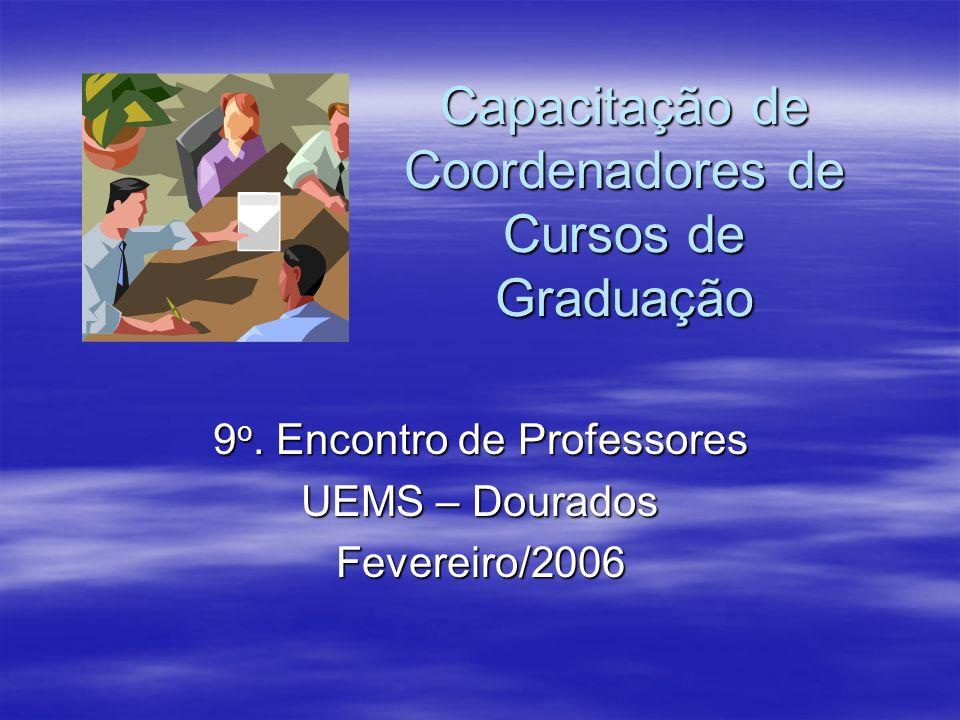 Capacitação de Coordenadores de Cursos de Graduação
