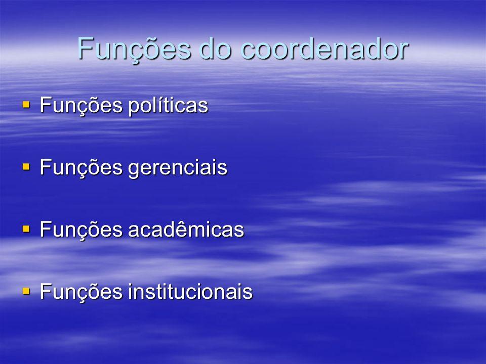 Funções do coordenador