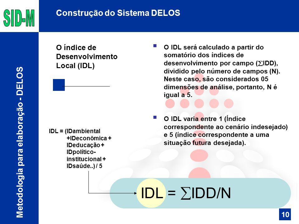 IDL = IDD/N Construção do Sistema DELOS