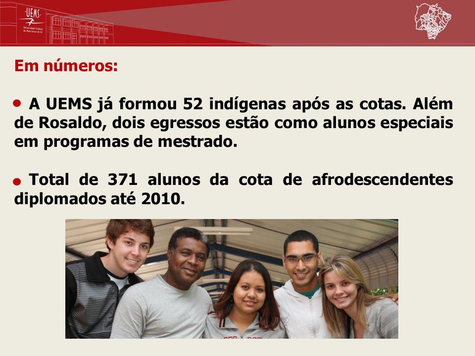 Em números: A UEMS já formou 52 indígenas após as cotas. Além de Rosaldo, dois egressos estão como alunos especiais em programas de mestrado.