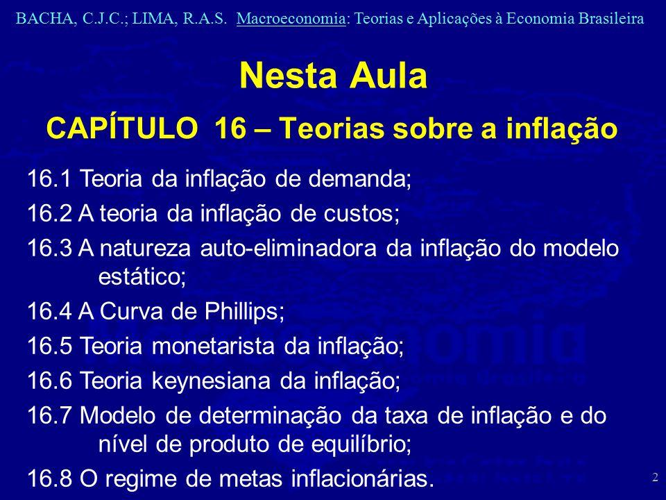 CAPÍTULO 16 – Teorias sobre a inflação