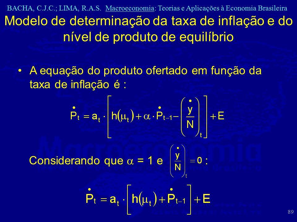 Modelo de determinação da taxa de inflação e do nível de produto de equilíbrio