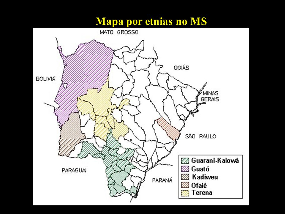 Mapa por etnias no MS