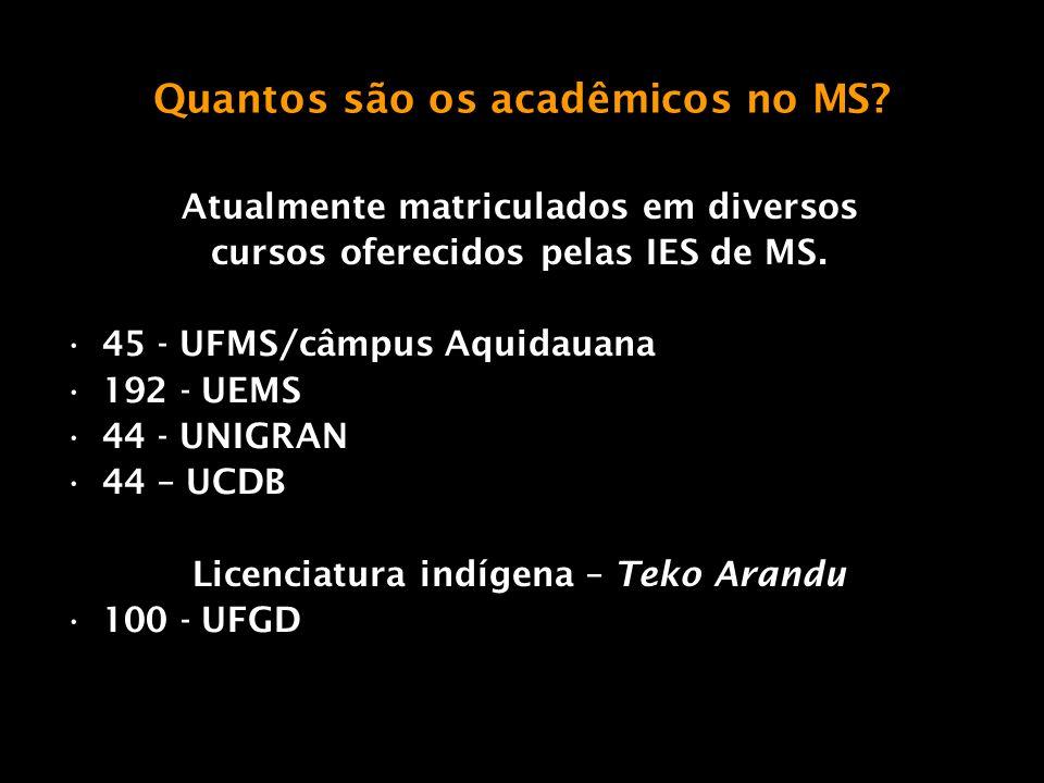 Quantos são os acadêmicos no MS