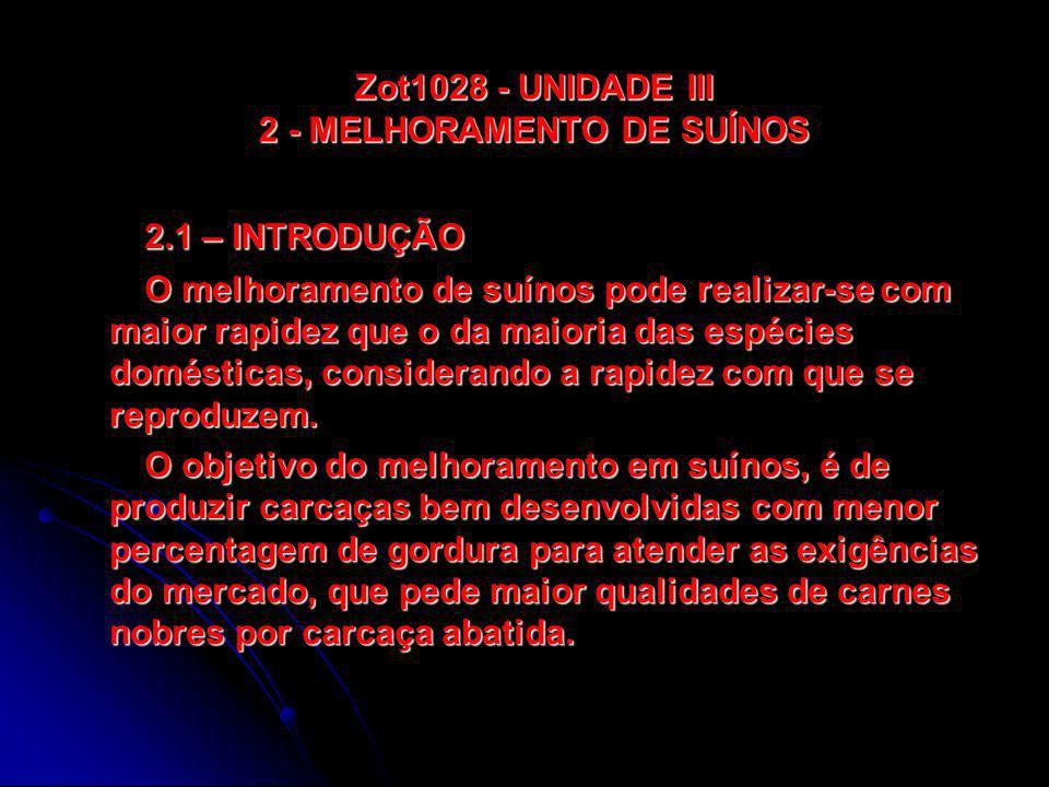 Zot1028 - UNIDADE III 2 - MELHORAMENTO DE SUÍNOS