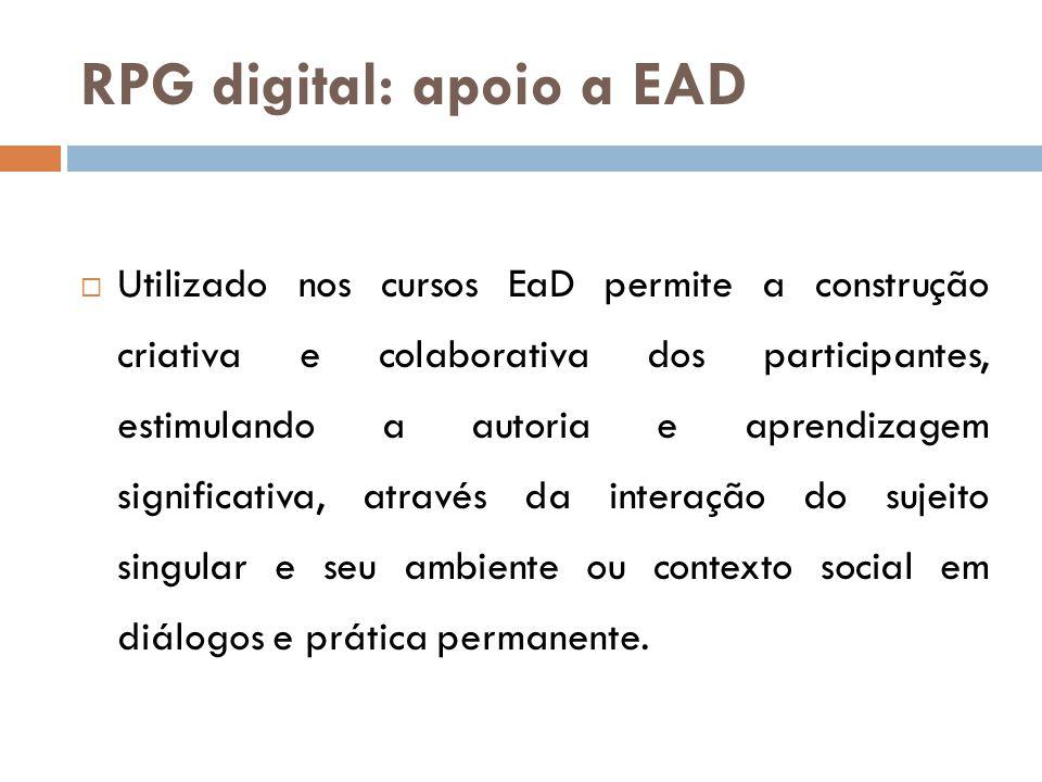 RPG digital: apoio a EAD