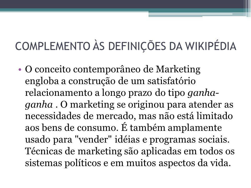 COMPLEMENTO ÀS DEFINIÇÕES DA WIKIPÉDIA