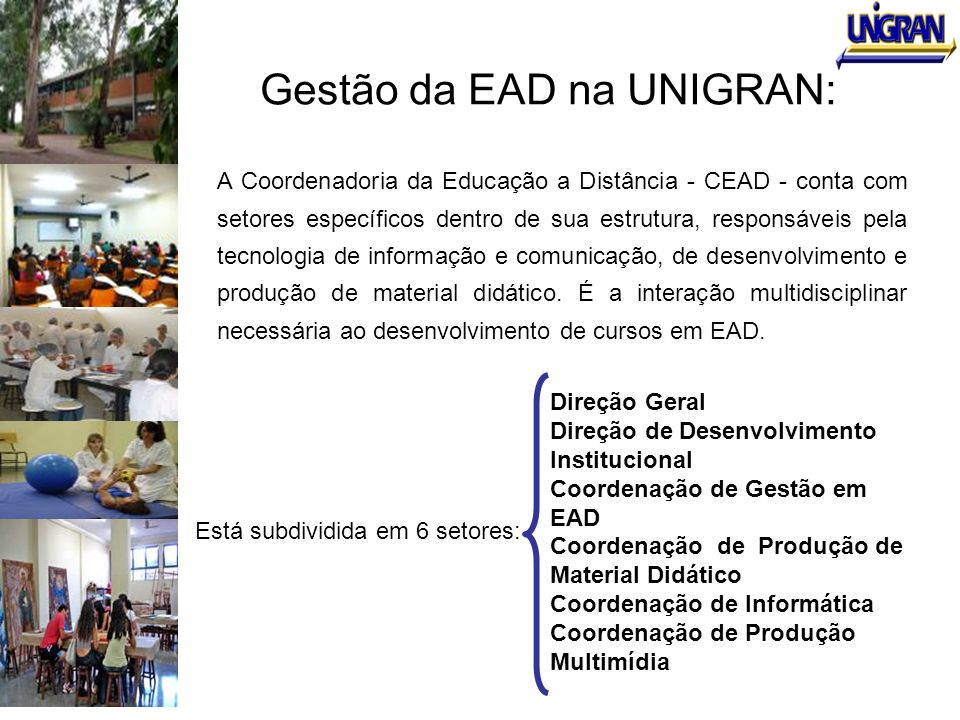 Gestão da EAD na UNIGRAN: