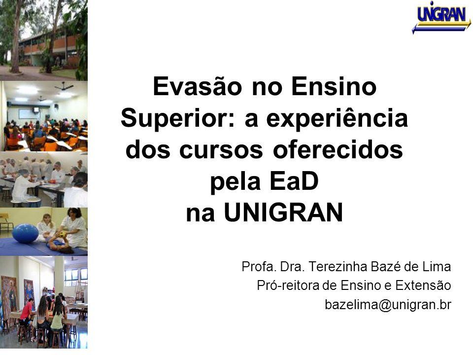 Evasão no Ensino Superior: a experiência dos cursos oferecidos pela EaD na UNIGRAN