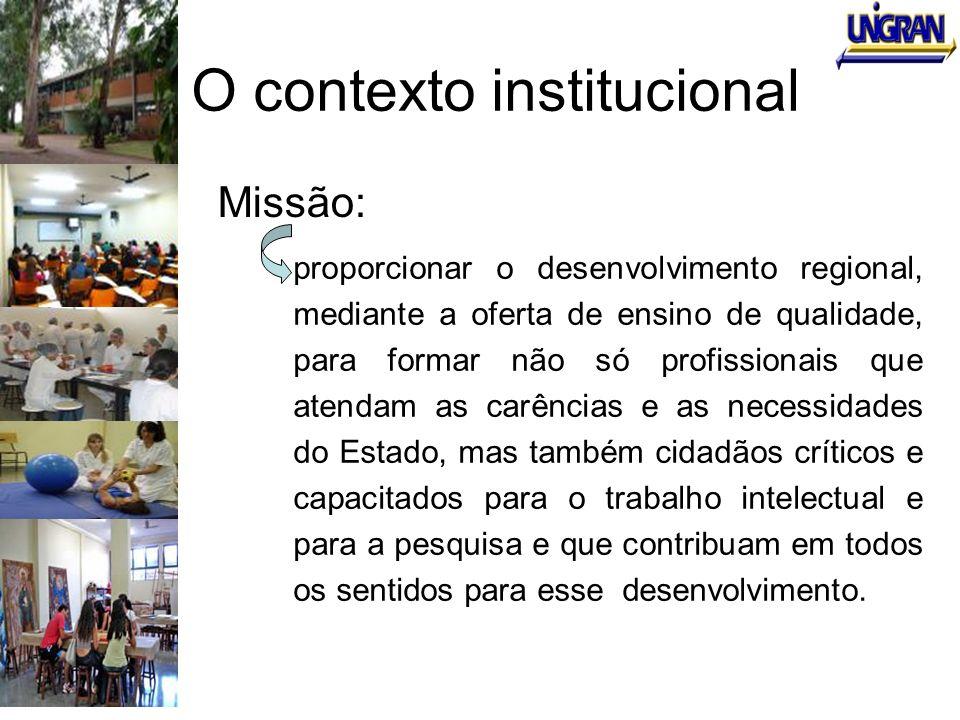 O contexto institucional