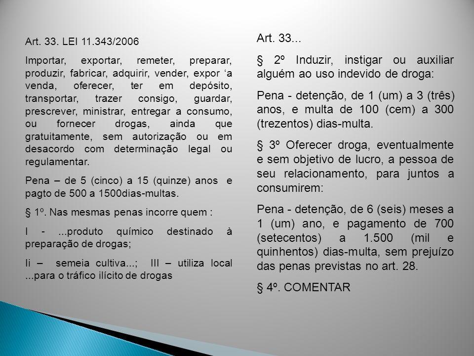 § 2º Induzir, instigar ou auxiliar alguém ao uso indevido de droga: