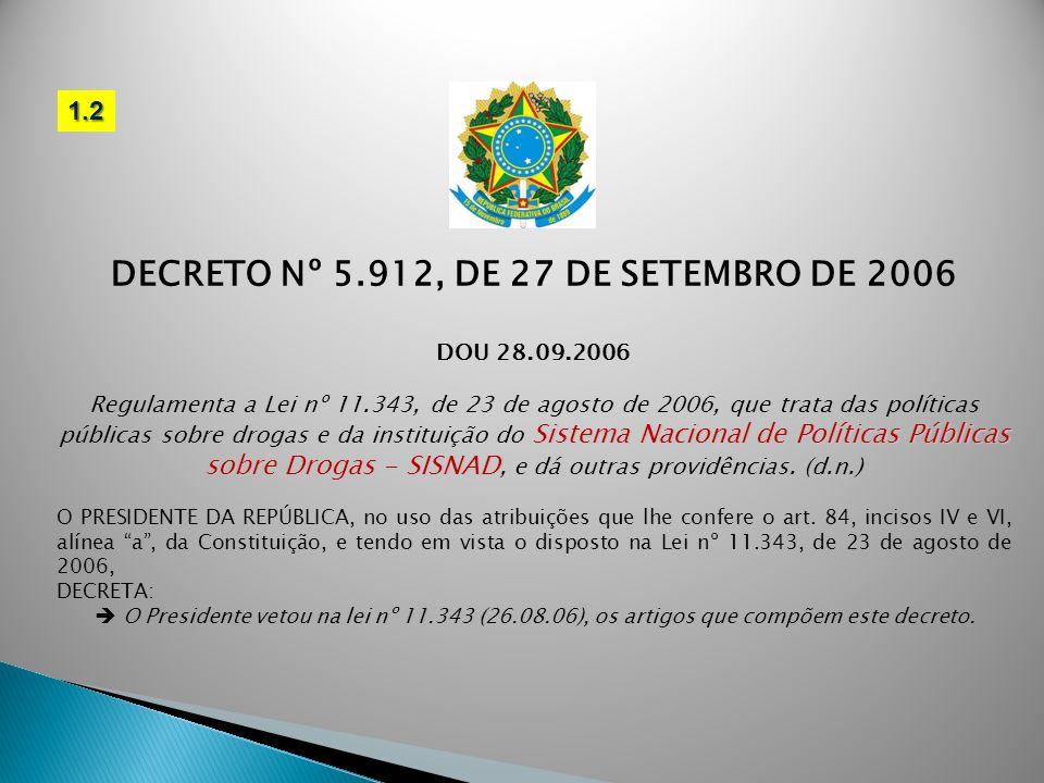 DECRETO Nº 5.912, DE 27 DE SETEMBRO DE 2006