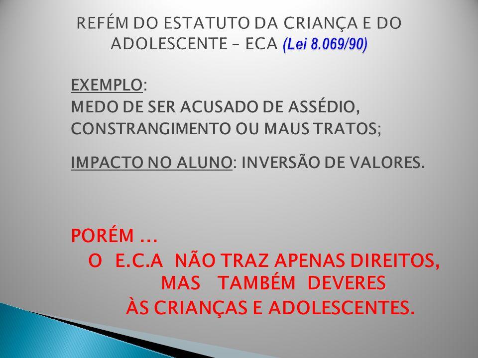 REFÉM DO ESTATUTO DA CRIANÇA E DO ADOLESCENTE – ECA (Lei 8.069/90)