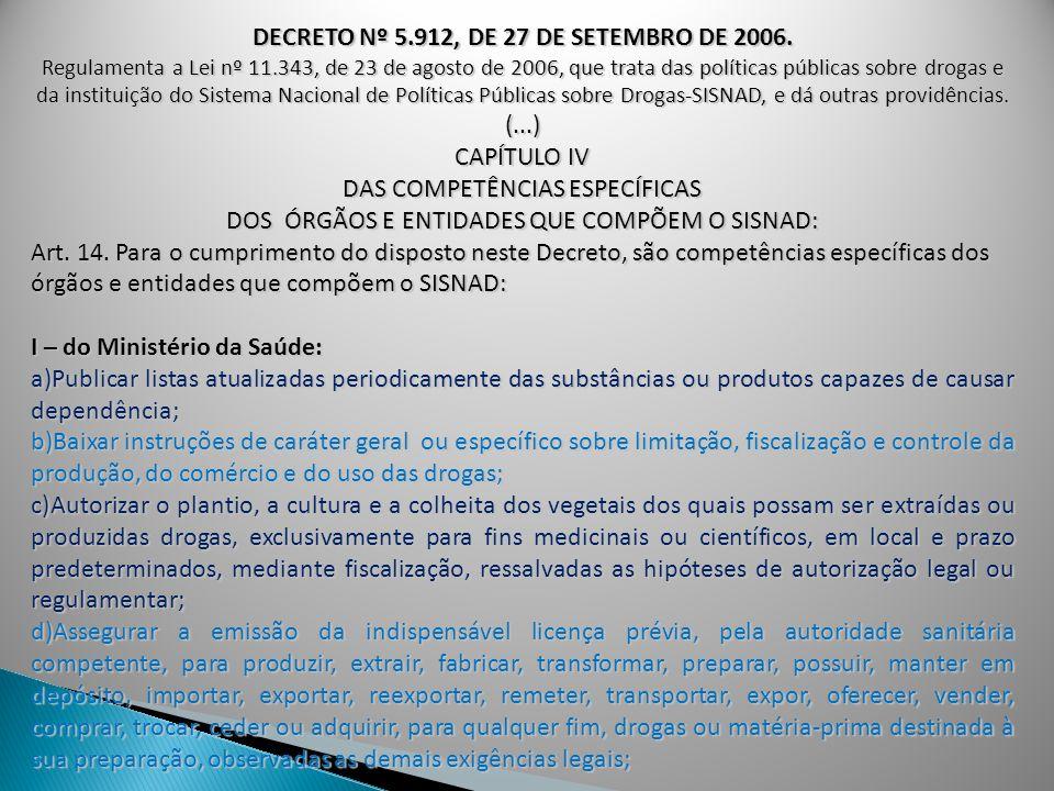 DECRETO Nº 5.912, DE 27 DE SETEMBRO DE 2006.