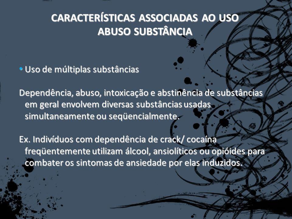 CARACTERÍSTICAS ASSOCIADAS AO USO