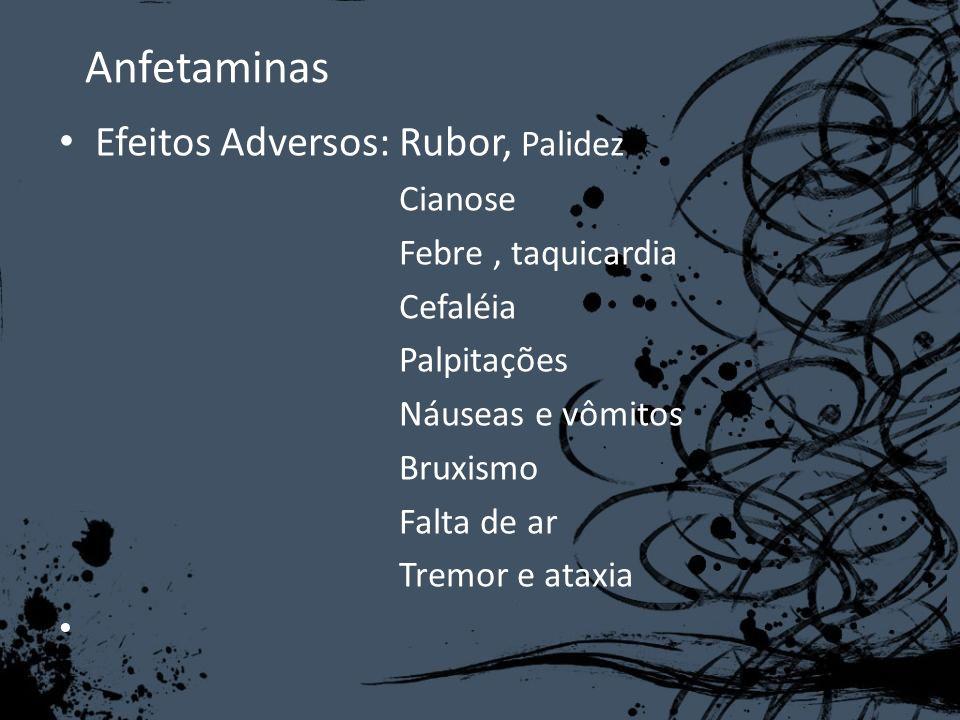 Anfetaminas Efeitos Adversos: Rubor, Palidez Cianose