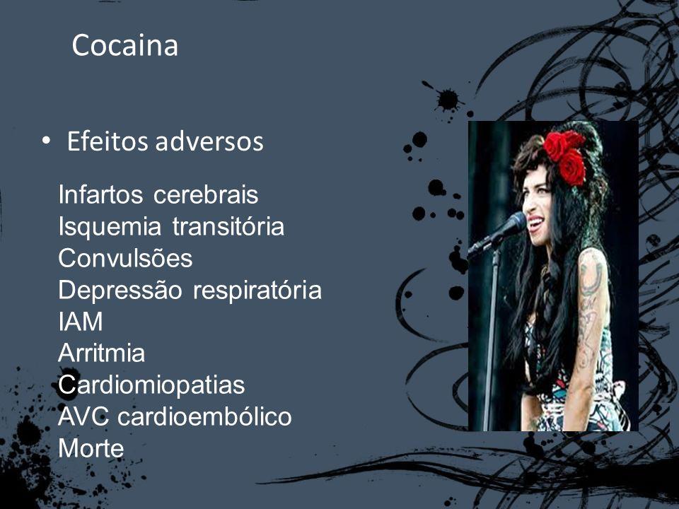 Cocaina Efeitos adversos Infartos cerebrais Isquemia transitória