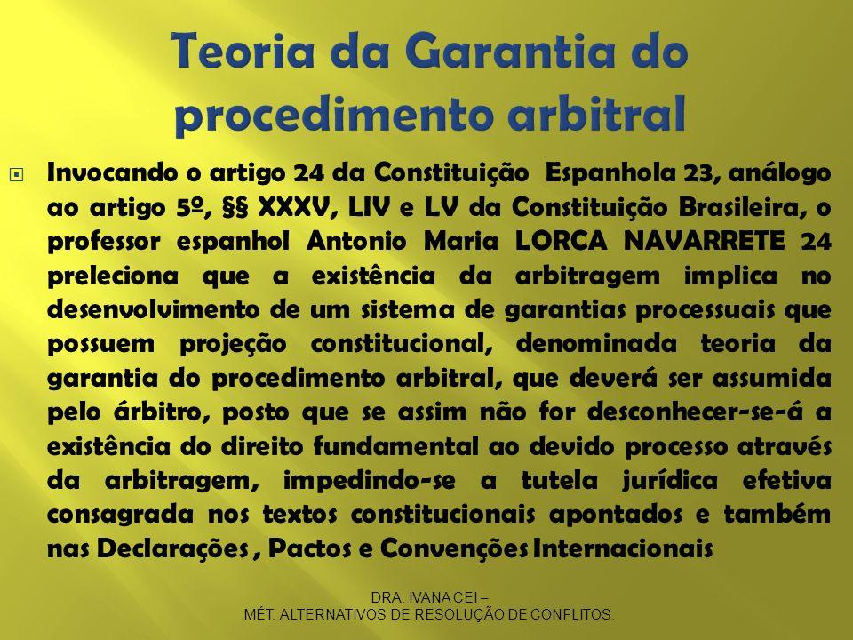 Teoria da Garantia do procedimento arbitral