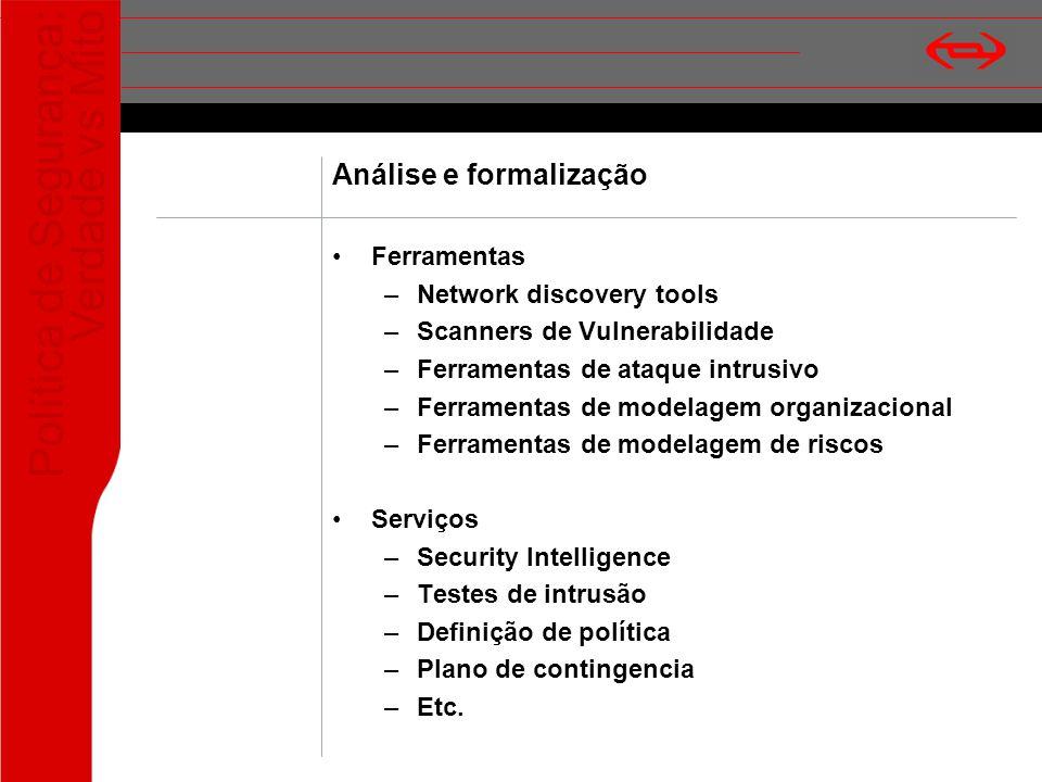 Análise e formalização