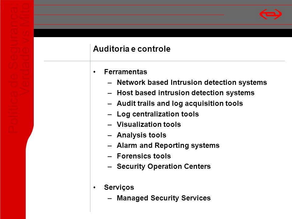Auditoria e controle Ferramentas