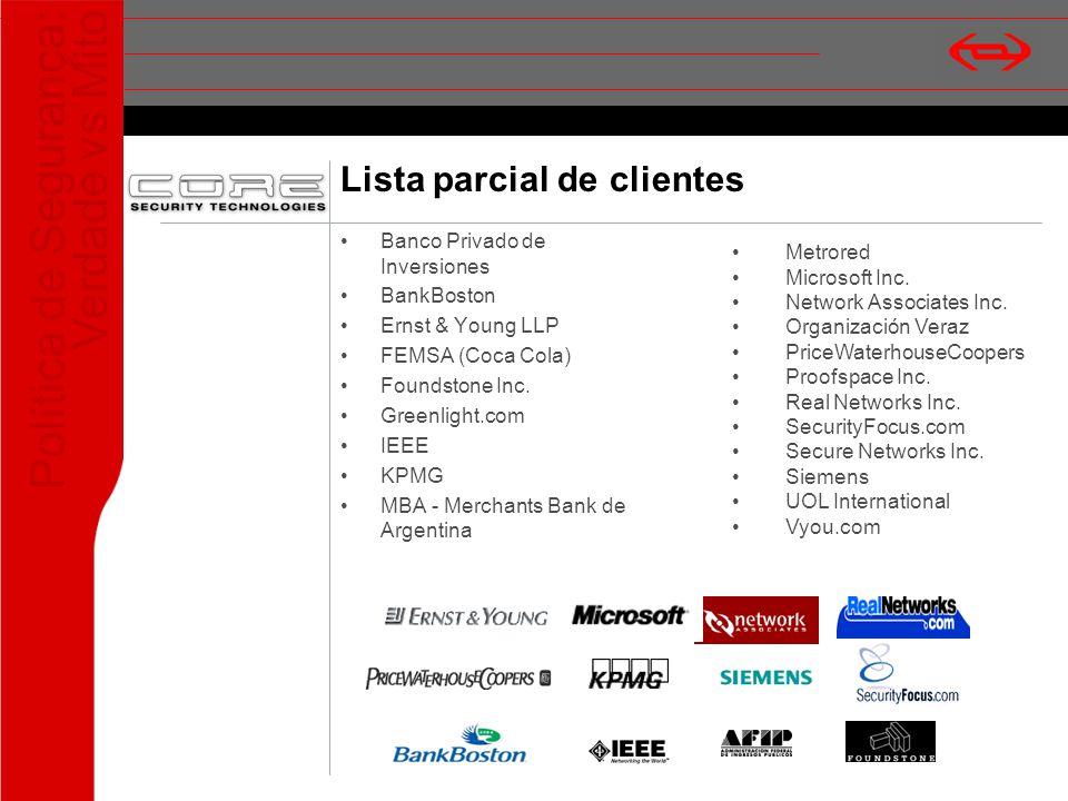 Lista parcial de clientes