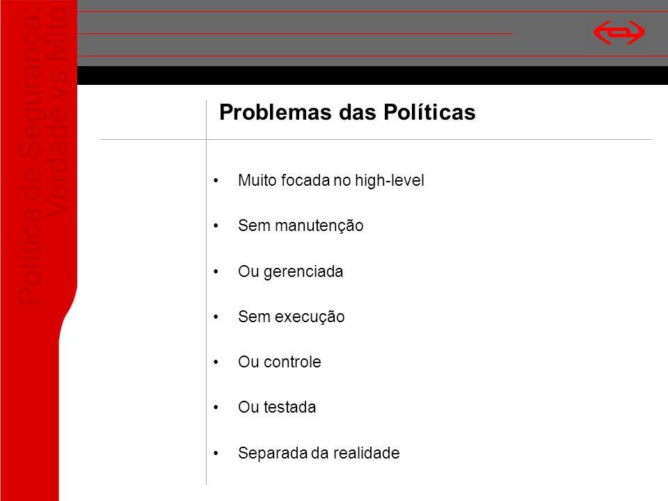 Problemas das Políticas