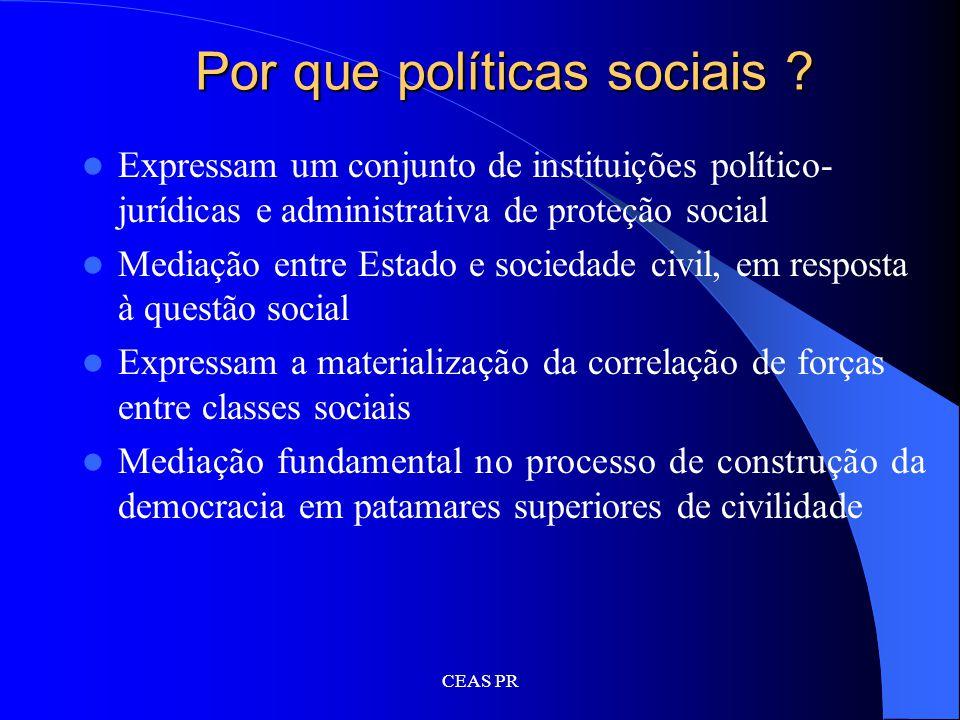 Por que políticas sociais