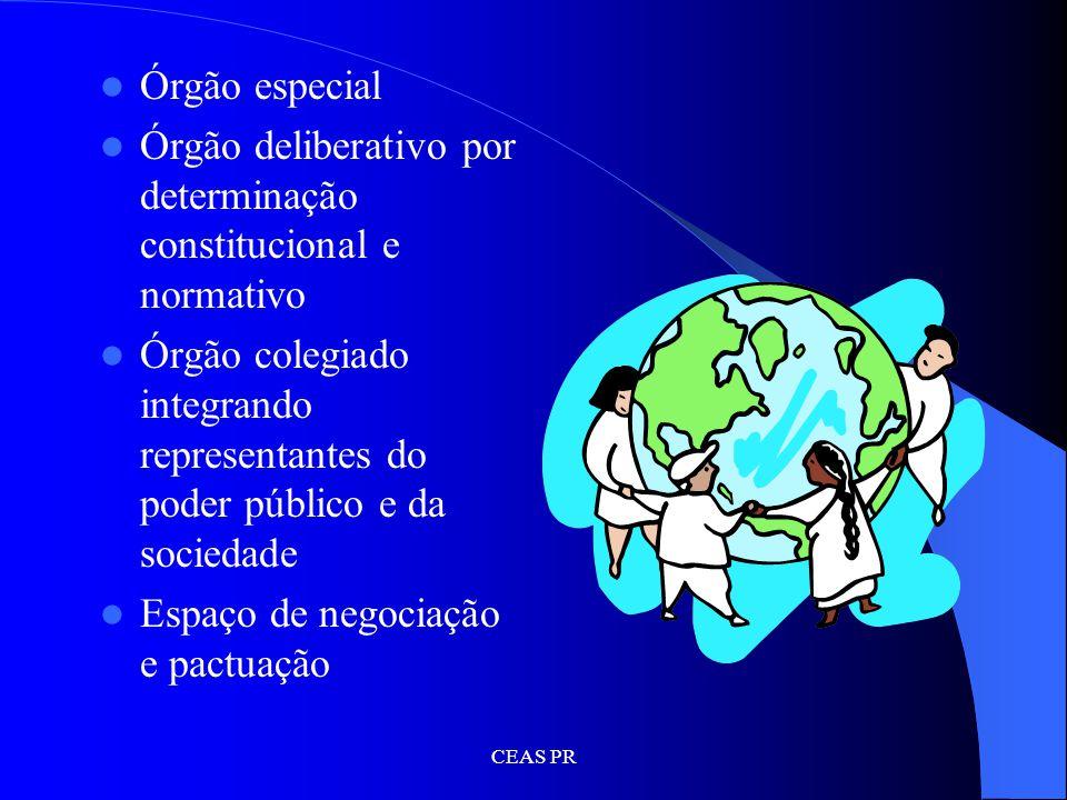 Órgão deliberativo por determinação constitucional e normativo