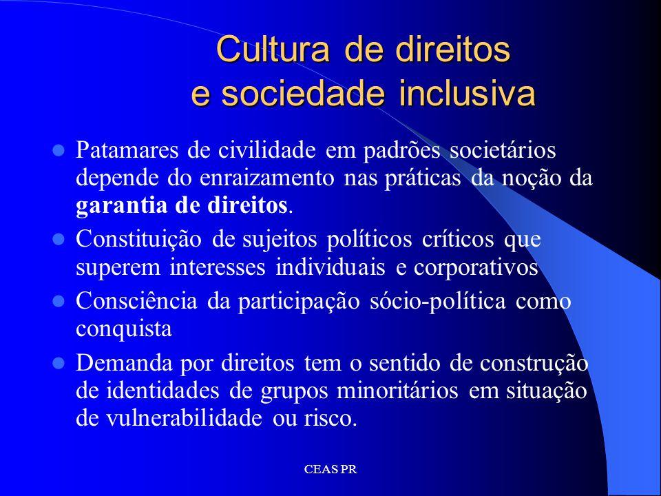 Cultura de direitos e sociedade inclusiva