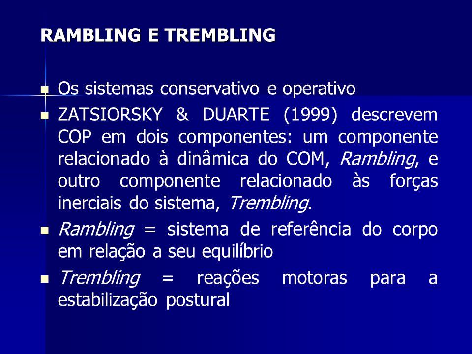 RAMBLING E TREMBLING Os sistemas conservativo e operativo.