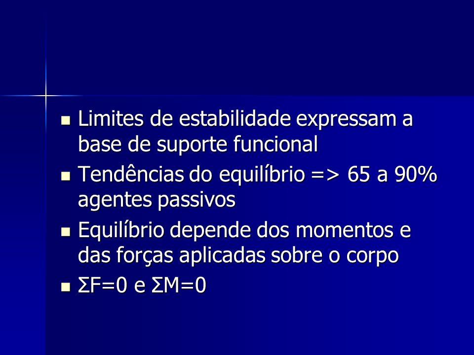 Limites de estabilidade expressam a base de suporte funcional