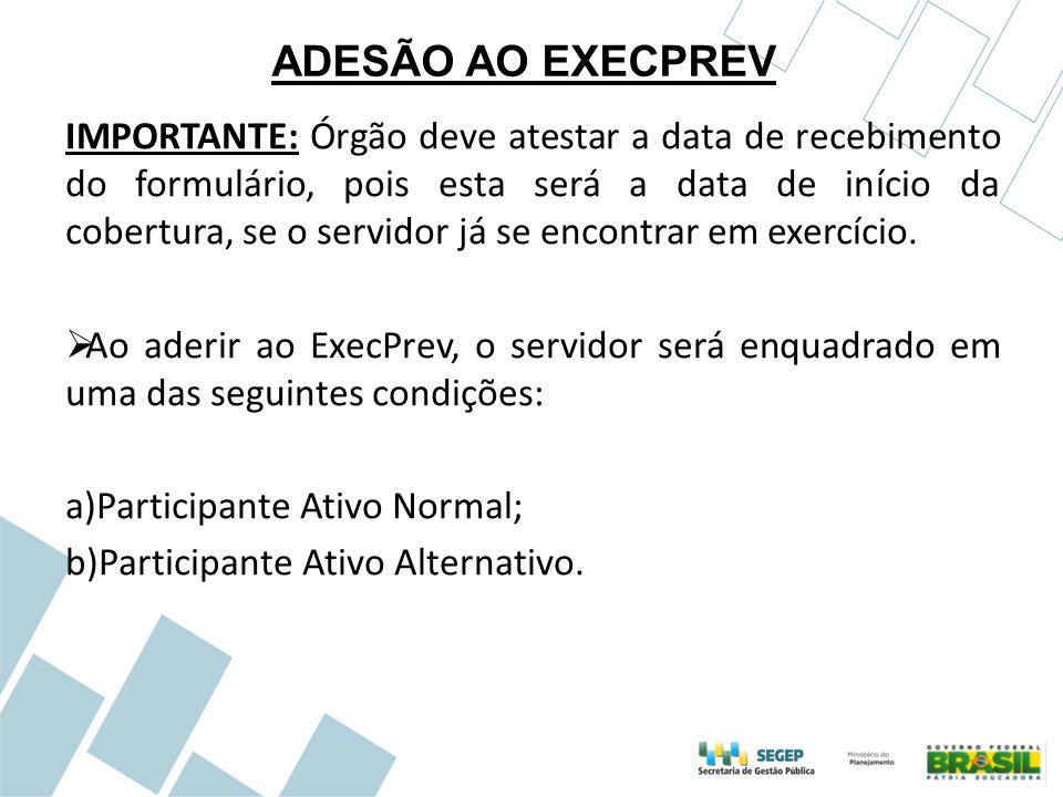 ADESÃO AO EXECPREV