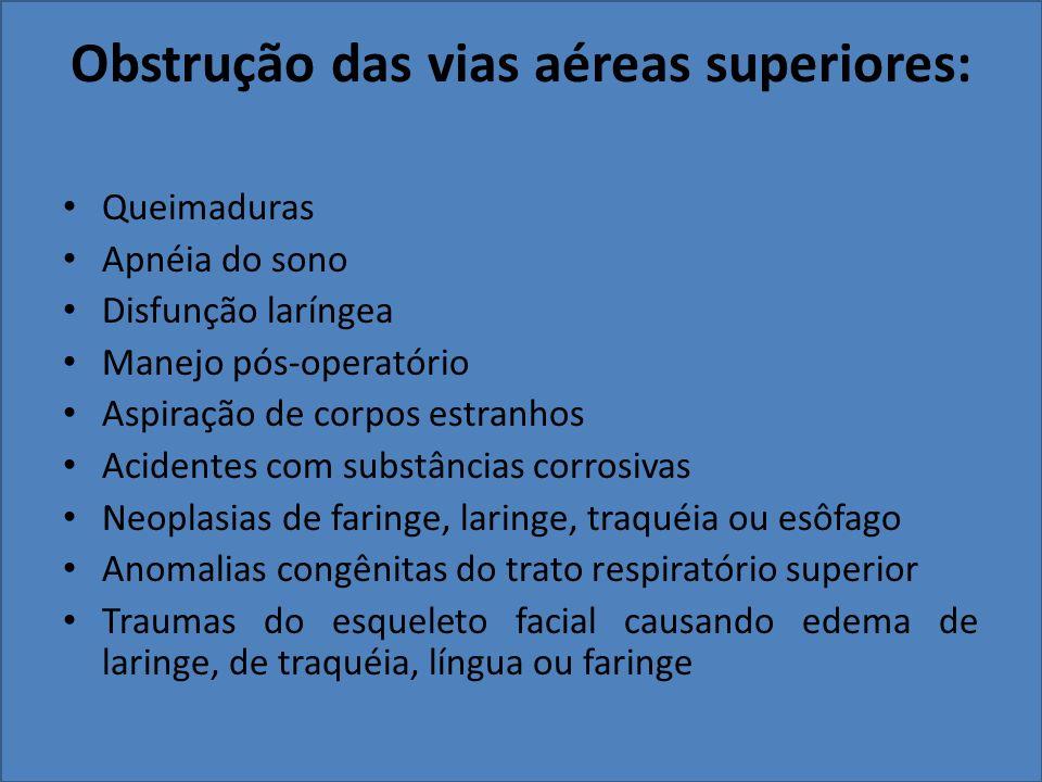 Obstrução das vias aéreas superiores: