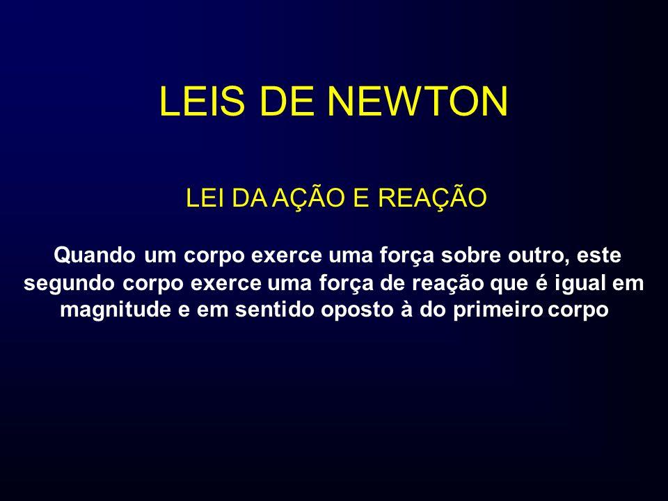 LEIS DE NEWTON LEI DA AÇÃO E REAÇÃO