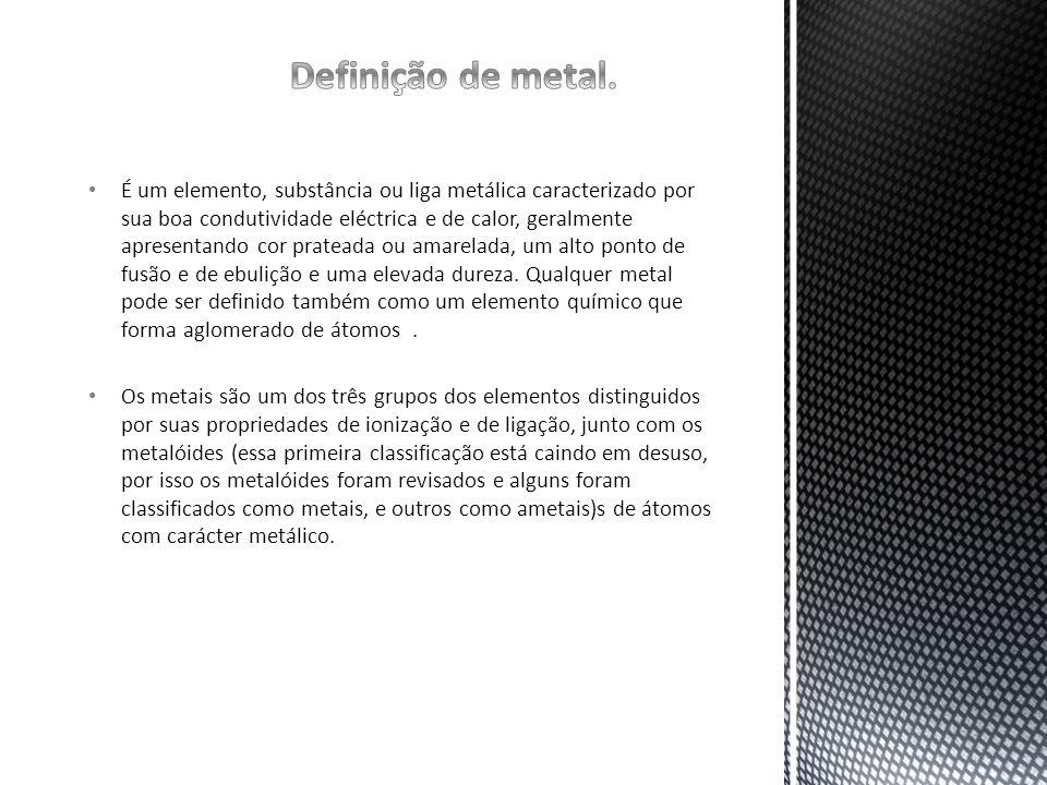 Definição de metal.
