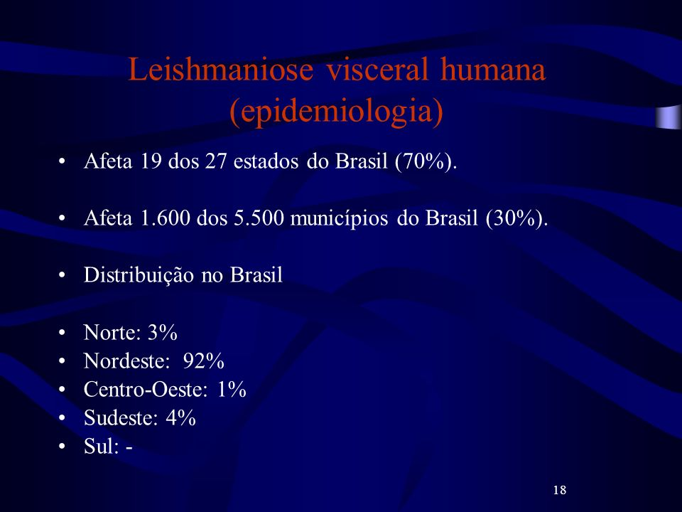 Leishmaniose visceral humana (epidemiologia)