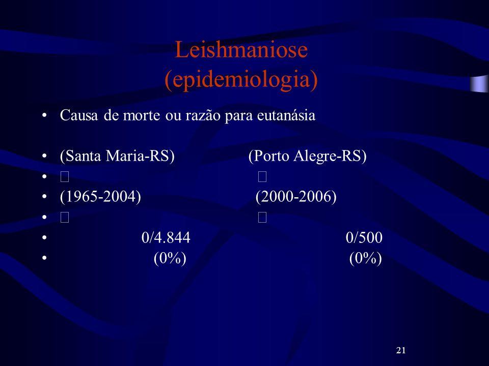 Leishmaniose (epidemiologia)