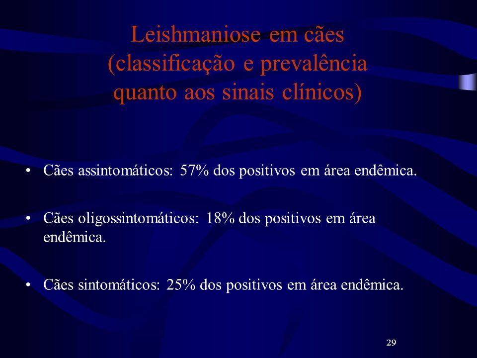 Leishmaniose em cães (classificação e prevalência quanto aos sinais clínicos)
